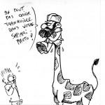 girafe brouillon
