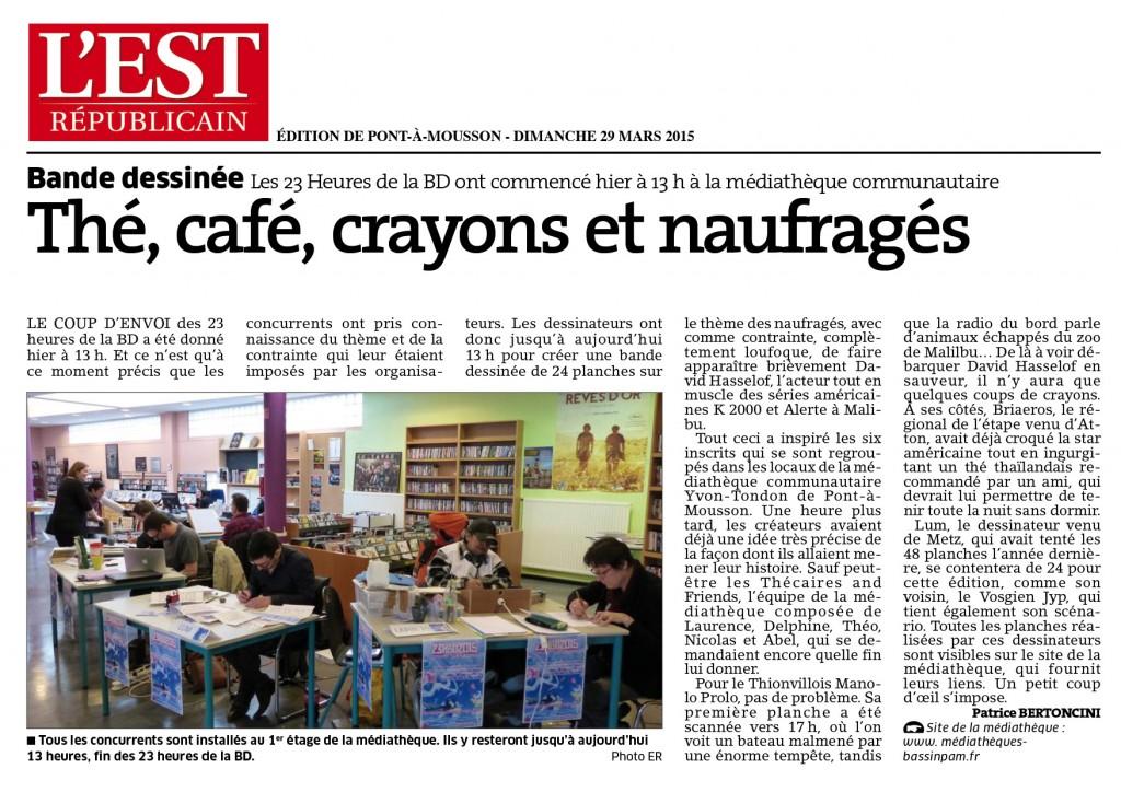 Et enfin, l'article paru dans le journal local.